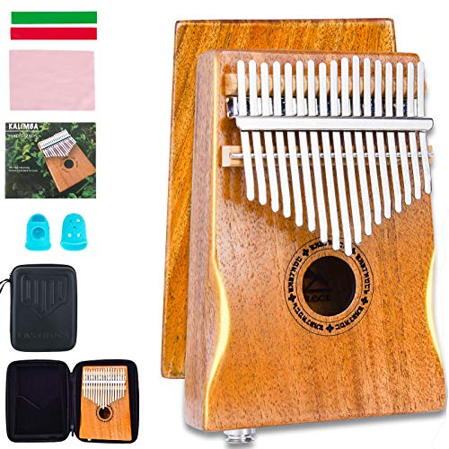 EASTROCK 17 Key Electric Kalimba Thumb Piano Built-in...
