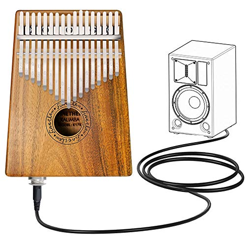 Finger Piano Mbira 17 Key Kalimba Thumb Piano Koa Wood Body with...