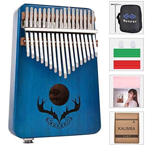 szkn 17 keys EQ kalimba Mahogany Thumb Piano Kalimba Finger Piano with...