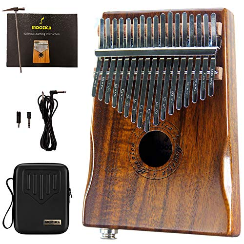 Moozica 17-Key EQ Kalimba, Electric Finger Thumb Piano Built-in Pickup...